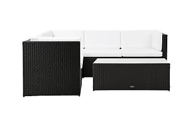 Rolls Loungegrupp 5-sits Svart/Vit