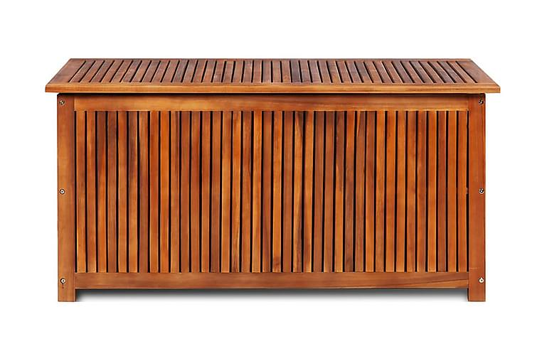 Dynbox 117x50x58 cm massivt akaciaträ - Brun - Utemöbler - Dynboxar & möbelskydd - Dynboxar & dynlådor