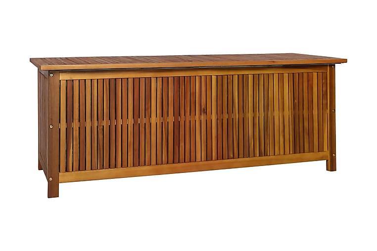 Dynbox 150x50x58 cm massivt akaciaträ - Brun - Utemöbler - Dynboxar & möbelskydd - Dynboxar & dynlådor