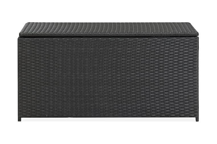Dynbox konstrotting 100x50x50 cm svart - Svart - Utemöbler - Dynboxar & möbelskydd - Dynboxar & dynlådor