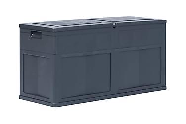 Förvaringslåda för trädgården 320 liter svart