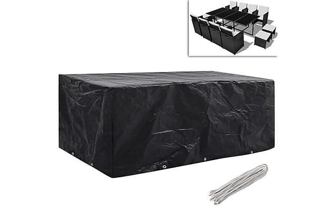 överdrag för trädgårdsmöbler 2 st 10 öljetter 229x113cm - Svart - Utemöbler - Dynboxar & möbelskydd - Möbelskydd