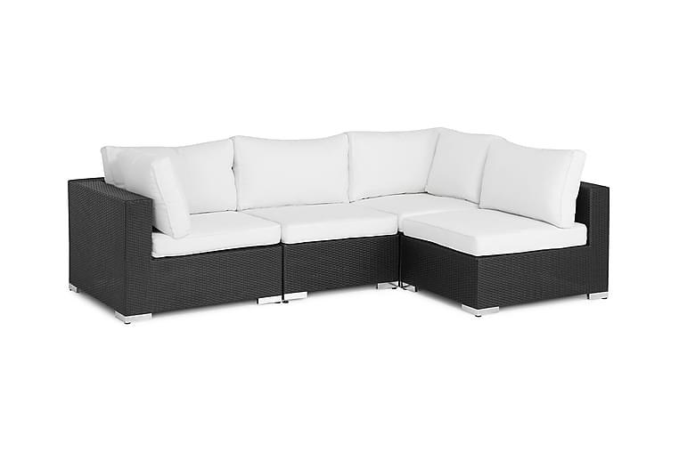 Bahamas Loungesoffa 4-sits - Svart - Utemöbler - Välj efter material - Konstrotting