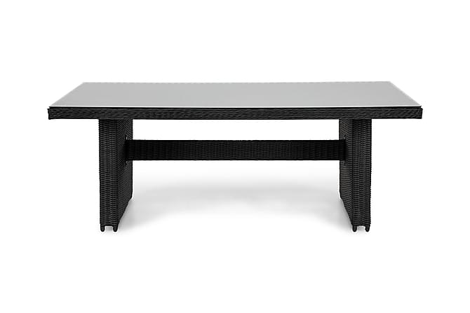 Marcus Matbord 200x100 cm - Svart - Utemöbler - Välj efter material - Konstrotting
