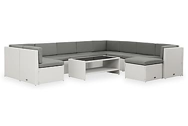 Rolls Loungegrupp 10-sits Vit/Grå