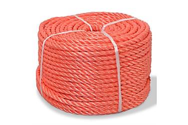 Tvinnat rep i polypropylen 16 mm 100 m orange