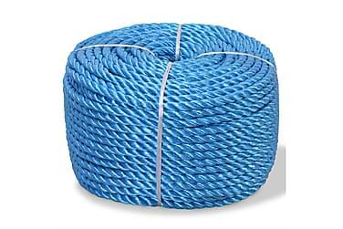 Tvinnat rep i polypropylen 6 mm 500 m blå