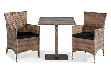 Bahamas Caféset 70x70 + 2 Thor Fåtölj m Dyna
