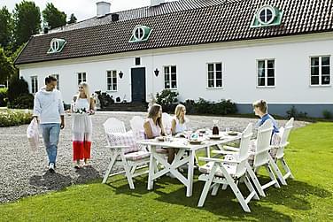 Hillerstorp Bullerö Matgrupp 90x200 + 6 Positionsstolar