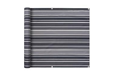 Balkongskärm oxfordtyg 90x600 cm randig grå