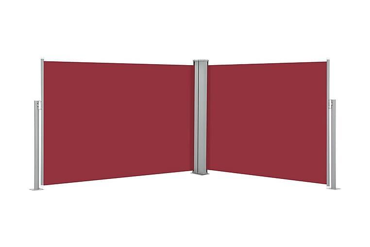 Infällbar sidomarkis röd 120x1000 cm - Röd - Utemöbler - Solskydd - Markiser