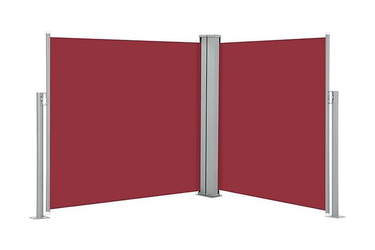 Infällbar sidomarkis röd 120x600 cm - Röd - Utemöbler - Solskydd - Markiser
