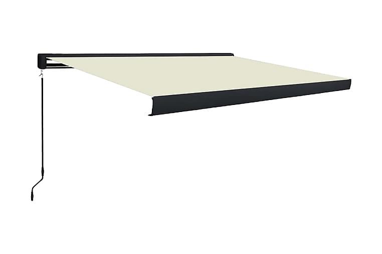 Markis manuell 350x250 cm gräddvit - Kräm - Utemöbler - Solskydd - Markiser