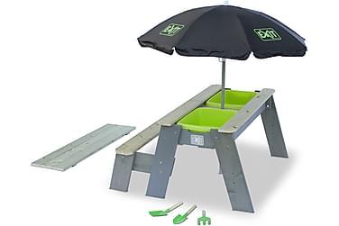 Exit Aksent Sand- och Picknickbord med 1 Bänk och Parasoll