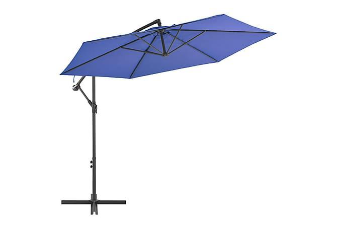 Frihängande parasoll med aluminiumstång 300 cm blå - Blå - Utemöbler - Solskydd - Parasoller