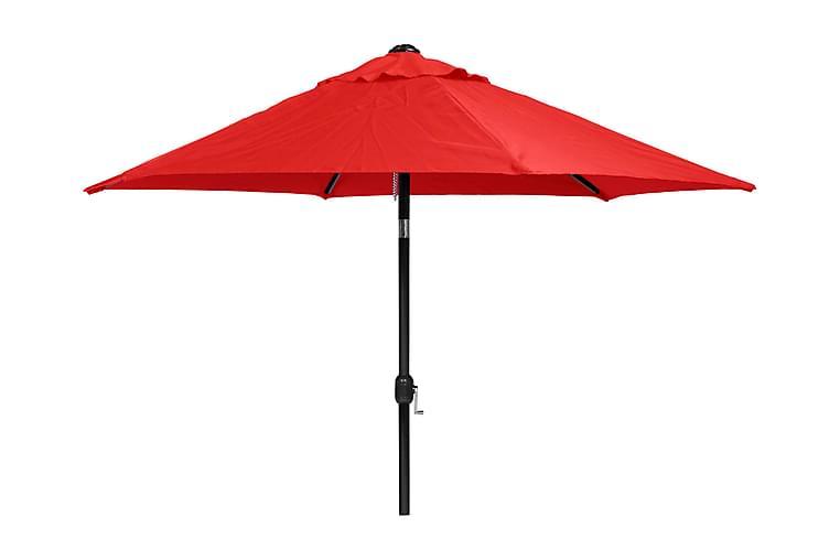 Hillerstorp PARASOLL 300 CM ALU RÖD - aluminium och polyester - Utemöbler - Solskydd - Parasoller