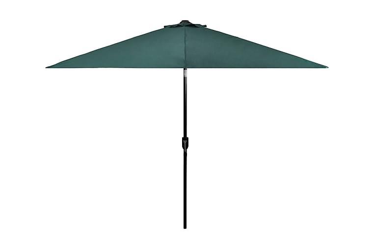 Parasoll Grönt Stål 3 meter - Grön - Utemöbler - Solskydd - Parasoller