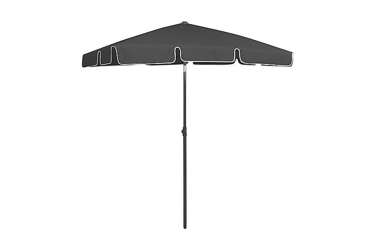 Strandparasoll svart 180x120 cm - Svart - Utemöbler - Solskydd - Parasoller