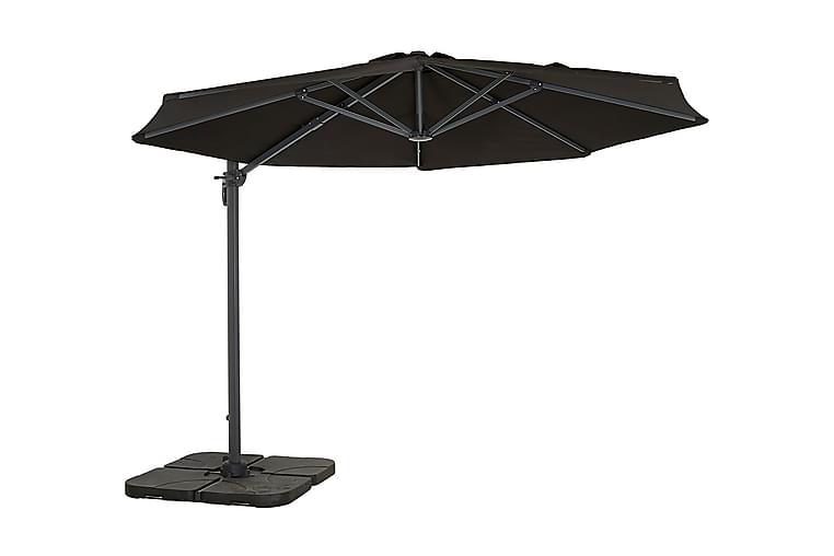 Tobago Parasoll 300 cm - Svart - Utemöbler - Solskydd - Parasoller