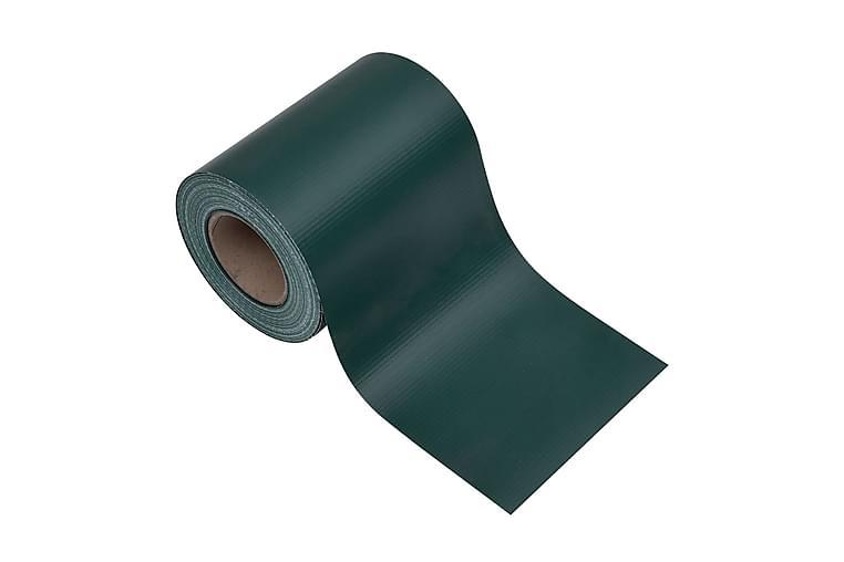 Insynsskydd för trädgården 4 st PVC 35x0,19 m matt grön - Grön - Utemöbler - Solskydd - Insynsskydd & vindskydd