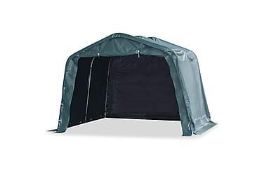 Portabelt vindskydd för boskap PVC 3,3x3,2 m mörkgrön