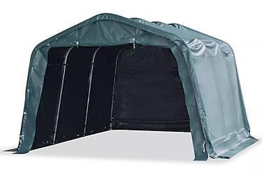 Portabelt vindskydd för boskap PVC 3,3x4,8 m mörkgrå