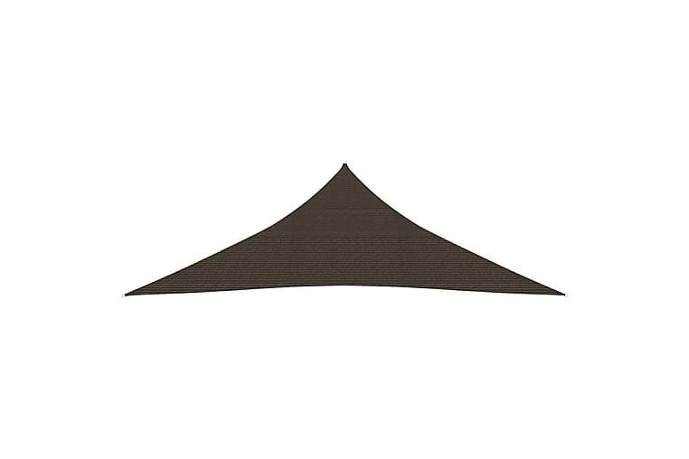 Solsegel 160 g/m² brun 5x5x6 m HDPE - Brun - Utemöbler - Solskydd - Solsegel