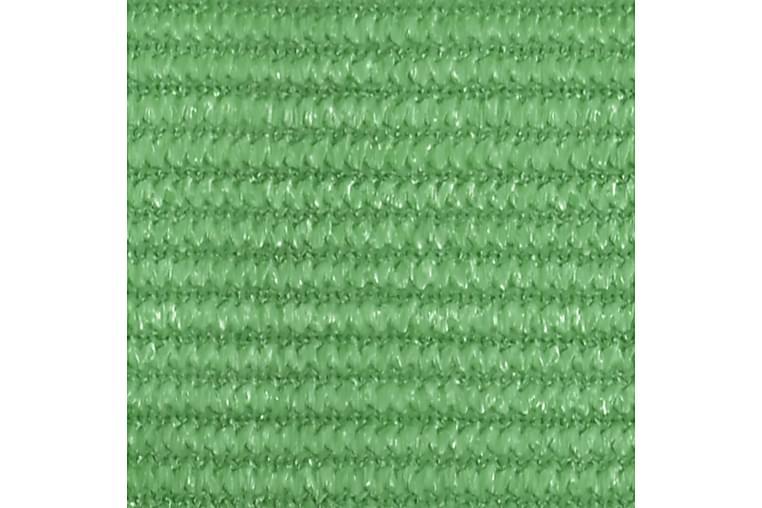 Solsegel 160 g/m² ljusgrön 3x4x4 m HDPE - Grön - Utemöbler - Solskydd - Solsegel