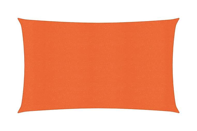 Solsegel 160 g/m² orange 2x5 m HDPE - Orange - Utemöbler - Solskydd - Solsegel