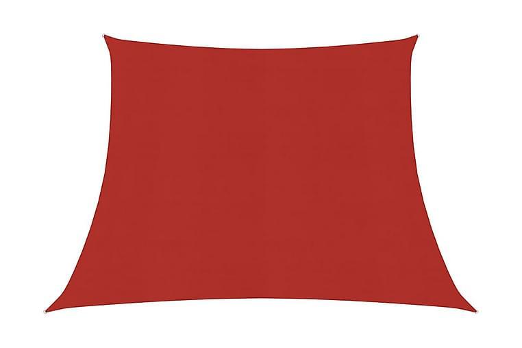 Solsegel 160 g/m² röd 4/5x3 m HDPE - Röd - Utemöbler - Solskydd - Solsegel
