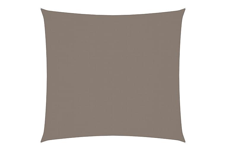 Solsegel oxfordtyg fyrkantigt 6x6 m taupe - Taupe - Utemöbler - Solskydd - Solsegel
