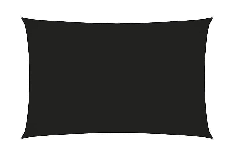 Solsegel oxfordtyg rektangulärt 2x5 m svart - Svart - Utemöbler - Solskydd - Solsegel