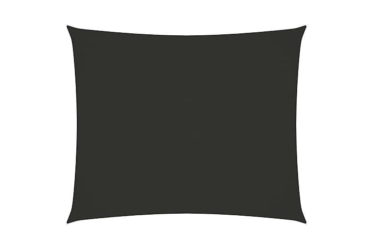 Solsegel oxfordtyg rektangulärt 6x7 m antracit - Antracit - Utemöbler - Solskydd - Solsegel