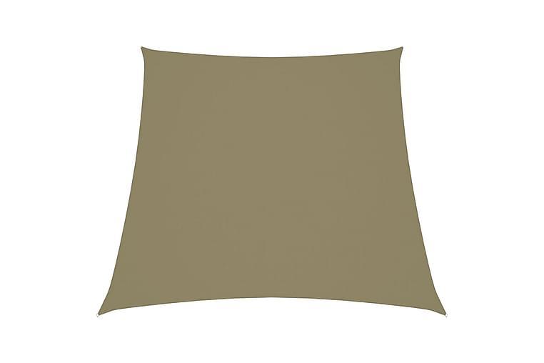 Solsegel oxfordtyg trapets 3/4x3 m beige - Beige - Utemöbler - Solskydd - Solsegel