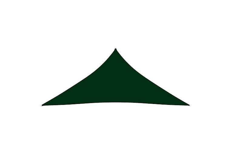 Solsegel Oxfordtyg trekantigt 4,5x4,5x4,5 m mörkgrön - Grön - Utemöbler - Solskydd - Solsegel
