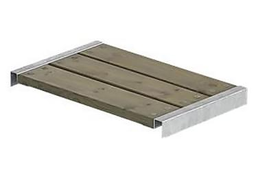 Cubic/Pipe bänk längd 60 cm inkl. beslag - grundmålad gråbru