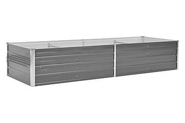 Odlingslåda galvaniserat stål 240x80x45 cm grå