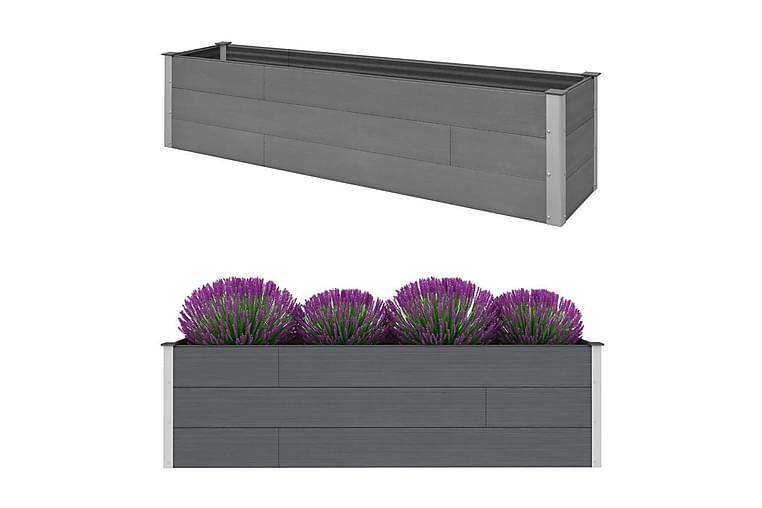 Odlingslåda grå 200x50x54 cm WPC