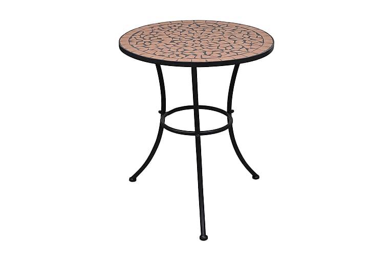 Cafébord terrakotta 60 cm mosaik - Brun - Utemöbler - Utebord - Cafebord