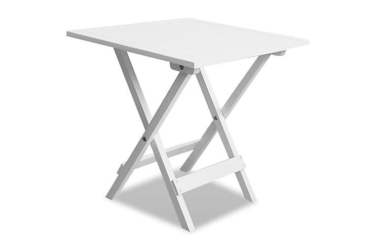 Cafébord vit 46x46x47 cm massivt akaciaträ - Vit - Utemöbler - Utebord - Cafebord