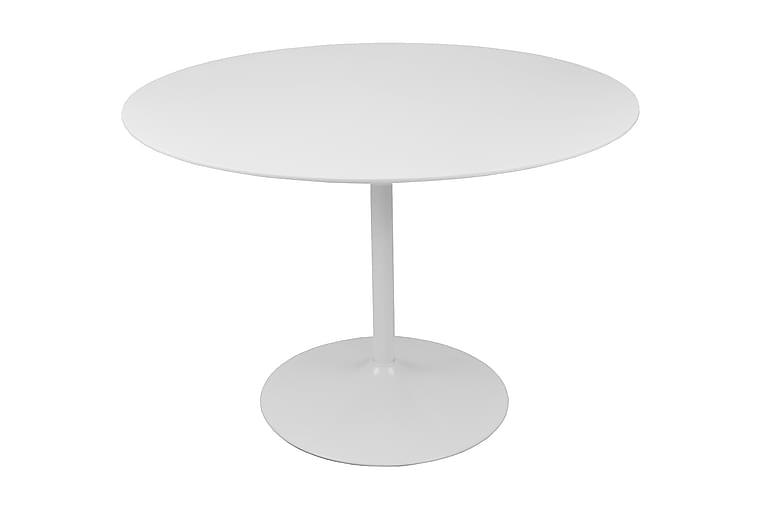 Table round - Vit - Utemöbler - Utebord - Cafebord