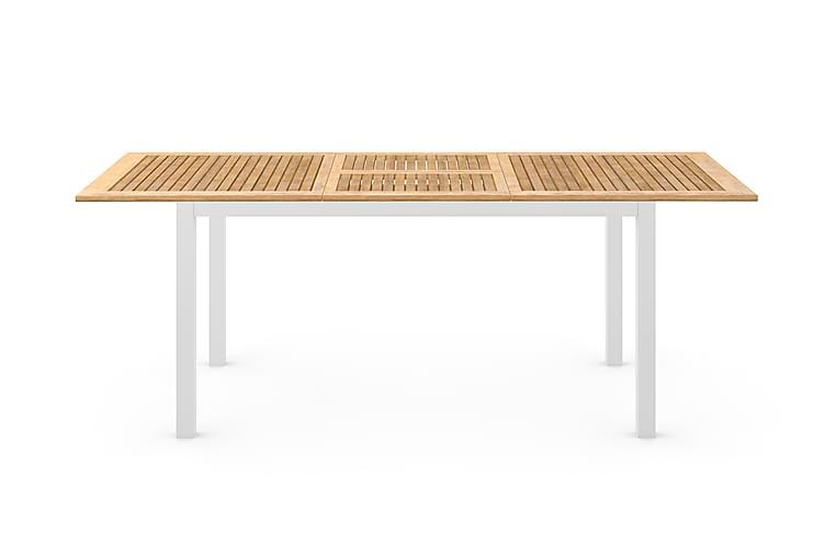 Las Vegas Förlängningsbart Matbord 152-210x90 cm - Vit/Teak - Utemöbler - Utebord - Matbord