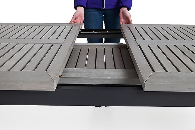Monaco Förlängningsbart Matbord 220-280x100 cm - Svart - Utemöbler - Utebord - Matbord