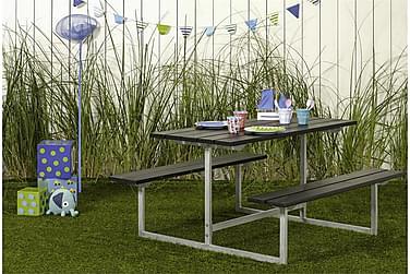 Basic bord- och bänkset för barn - svart