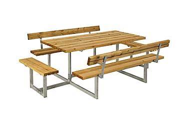 Basic bord- och bänkset med 2 ryggstöd + 2 påbyggnader