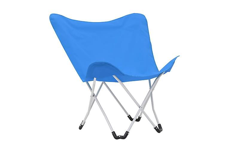 Campingstolar 2 st hopfällbara blå - Blå - Utemöbler - Stolar & Fåtöljer ute - Brassestolar & campingstolar