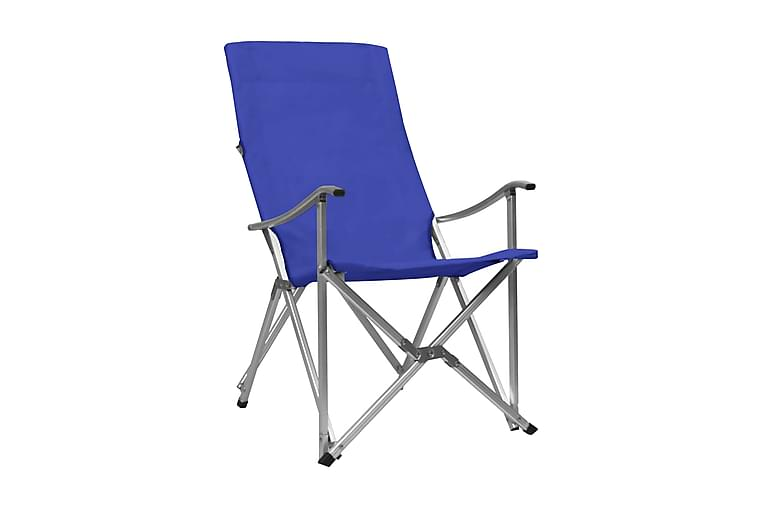 Hopfällbara campingstolar 2 st blå - Blå - Utemöbler - Stolar & Fåtöljer ute - Brassestolar & campingstolar