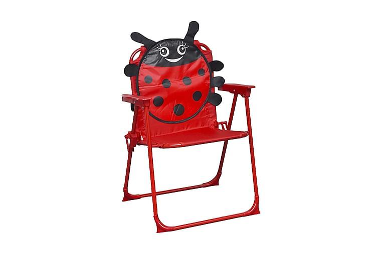 Trädgårdsstolar för barn 2 st röd tyg - Röd - Utemöbler - Stolar & Fåtöljer ute - Brassestolar & campingstolar